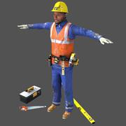 Travailleur en temps réel 3d model
