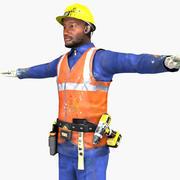 Trabajador en tiempo real modelo 3d