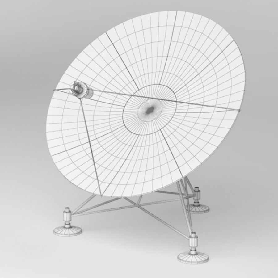 Antena de satélite royalty-free 3d model - Preview no. 7
