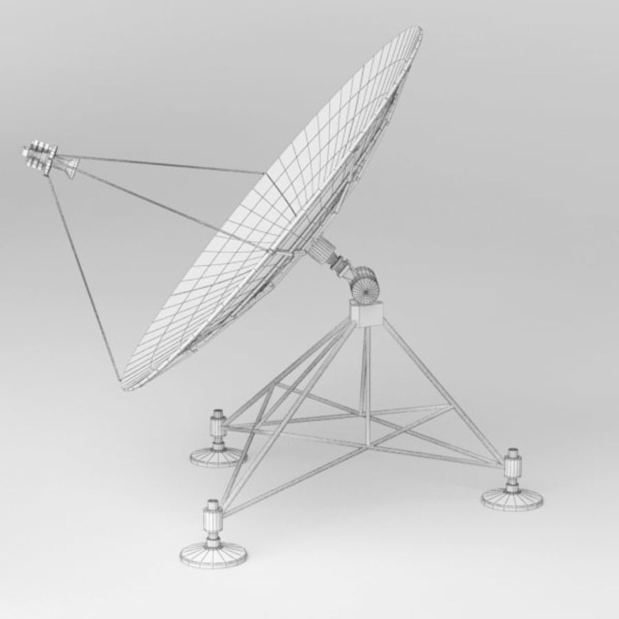 Antena de satélite royalty-free 3d model - Preview no. 9