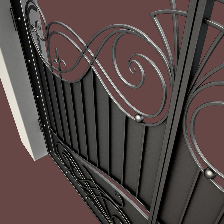 Wrought Iron Gate 10 royalty-free 3d model - Preview no. 9