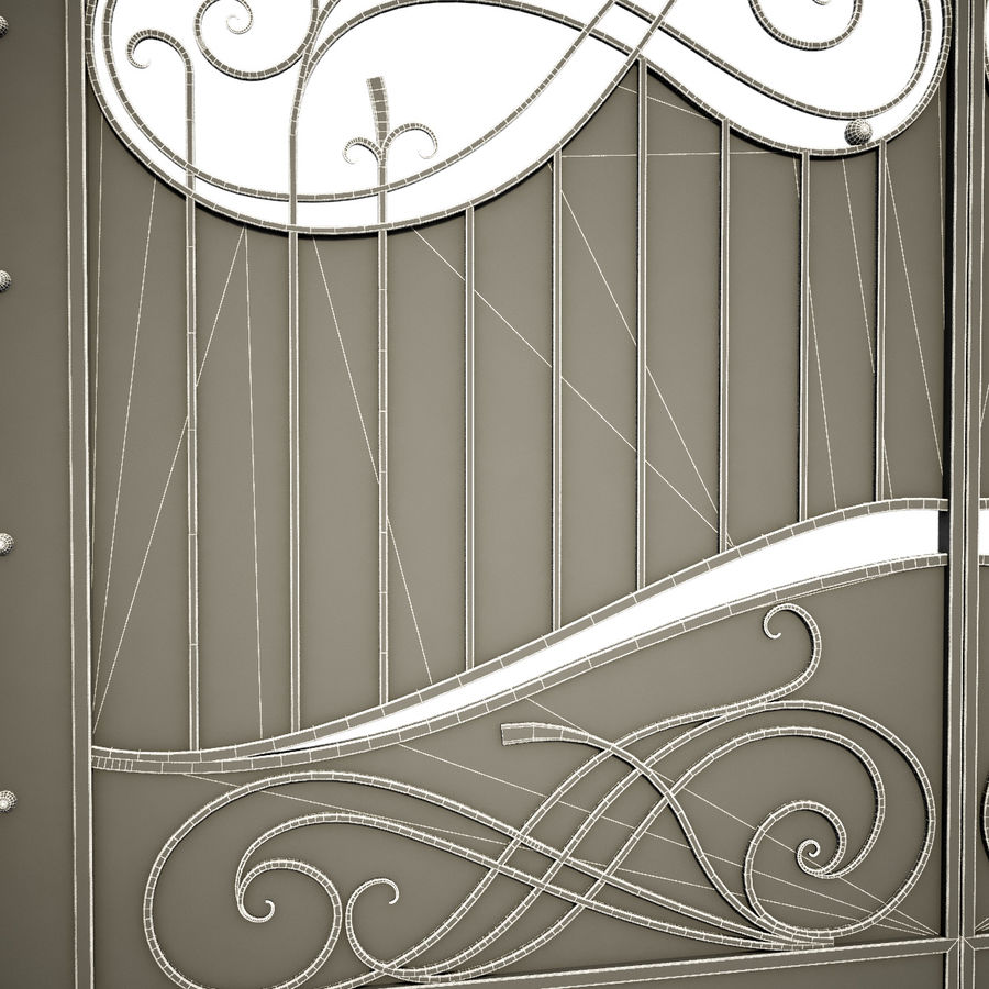 Wrought Iron Gate 10 royalty-free 3d model - Preview no. 4