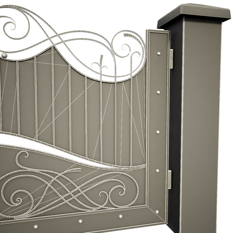 Wrought Iron Gate 10 royalty-free 3d model - Preview no. 5