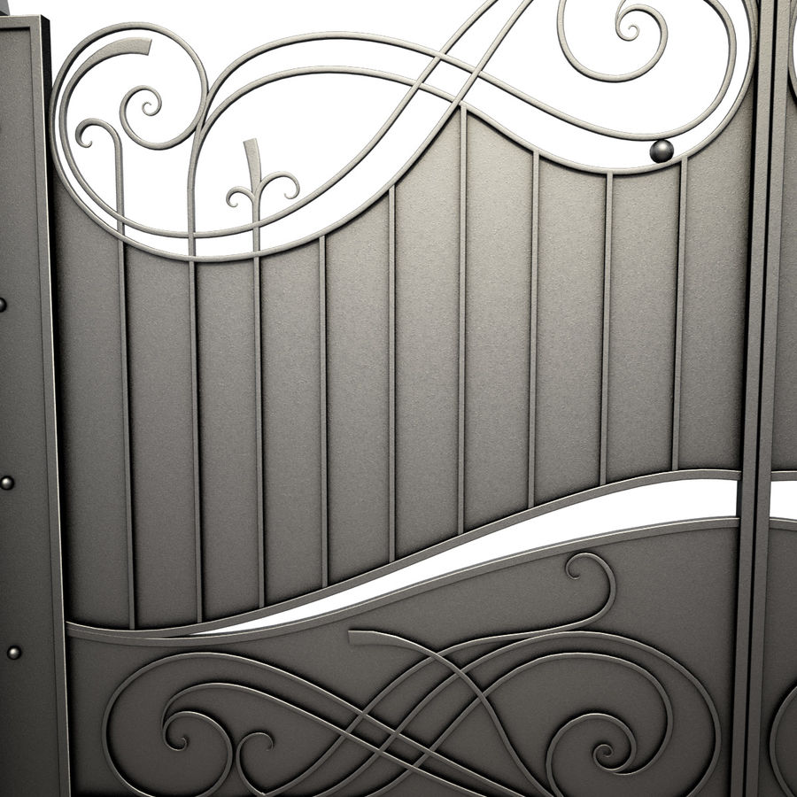 Wrought Iron Gate 10 royalty-free 3d model - Preview no. 1