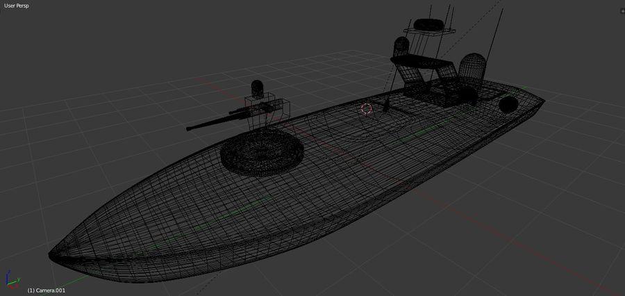 Onbemande beveiligingsboot royalty-free 3d model - Preview no. 7