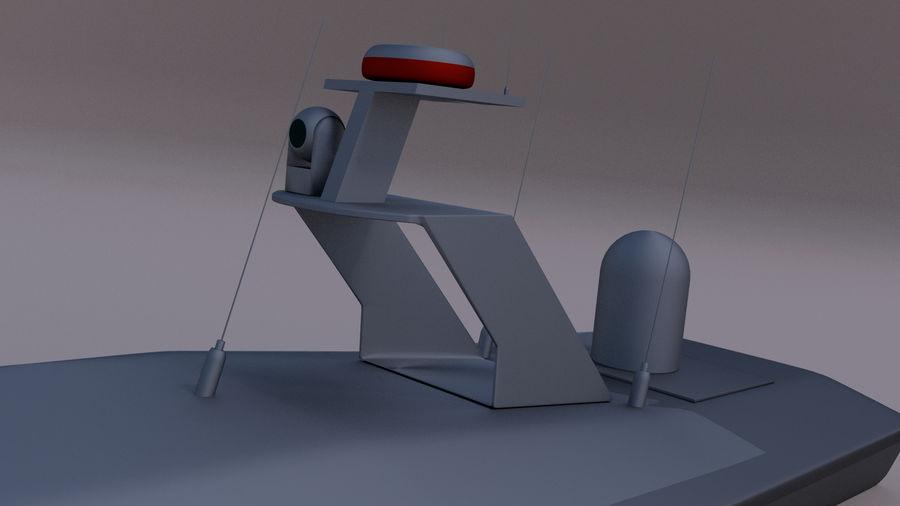 Onbemande beveiligingsboot royalty-free 3d model - Preview no. 6