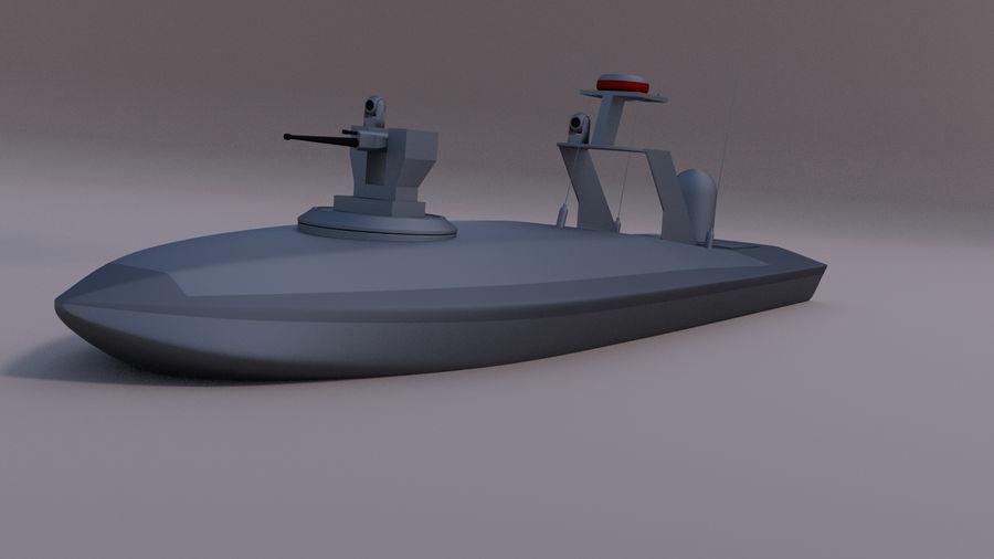 Onbemande beveiligingsboot royalty-free 3d model - Preview no. 1