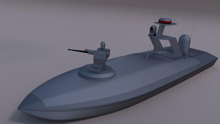 Onbemande beveiligingsboot royalty-free 3d model - Preview no. 4