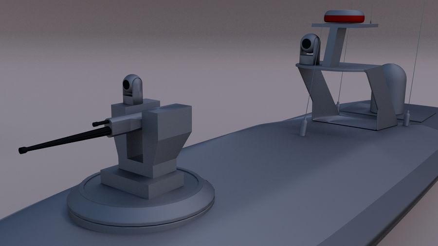 Onbemande beveiligingsboot royalty-free 3d model - Preview no. 3