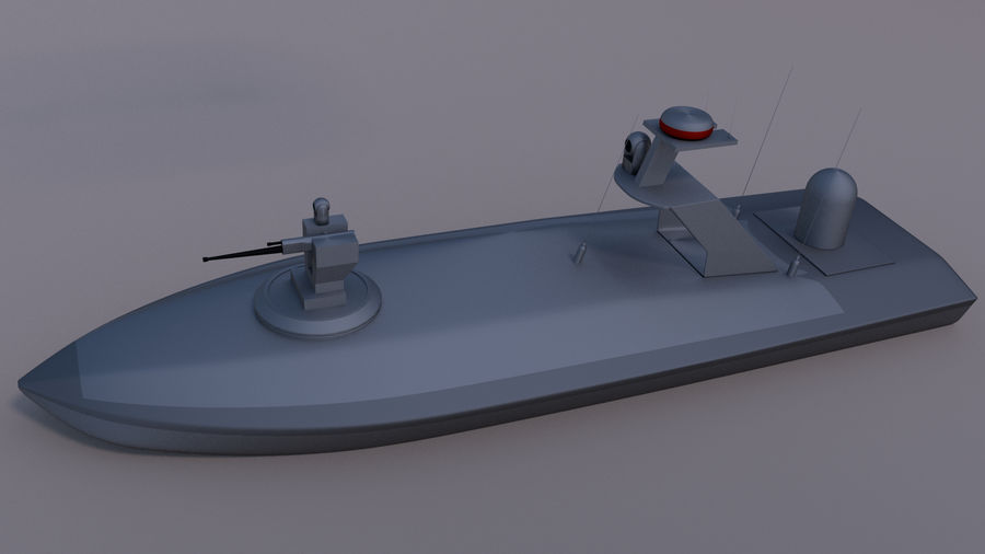 Onbemande beveiligingsboot royalty-free 3d model - Preview no. 2