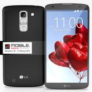 LG G Pro 2 nero grigio bianco 2014 3d model