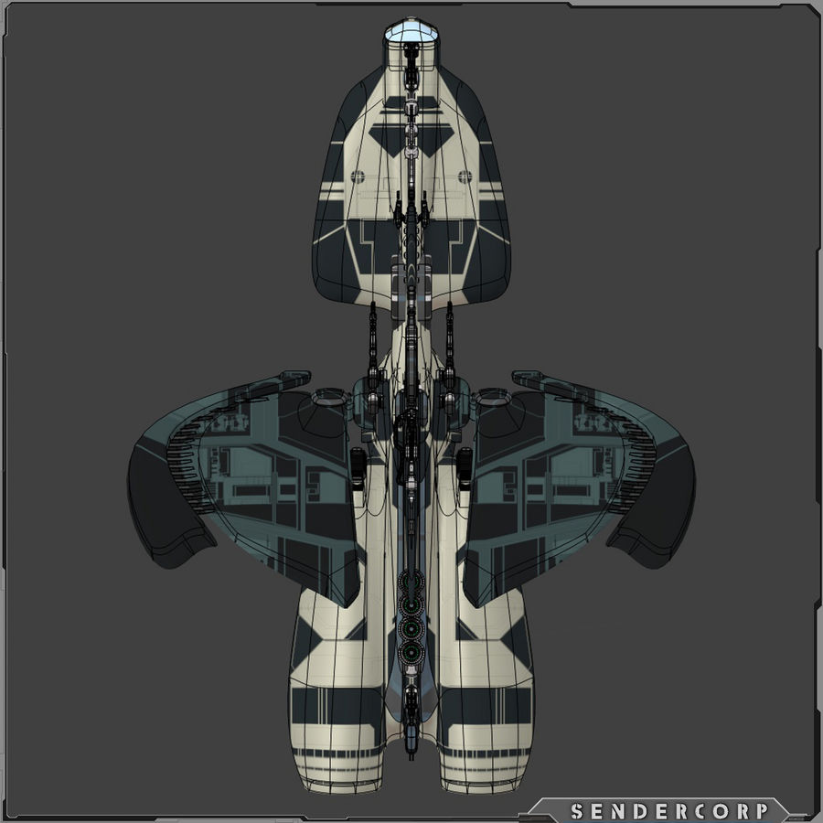 Gunship royalty-free 3d model - Preview no. 4