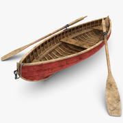 Rowboat (Dirty) 3d model