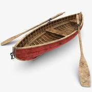 Barco a remo (sujo) 3d model