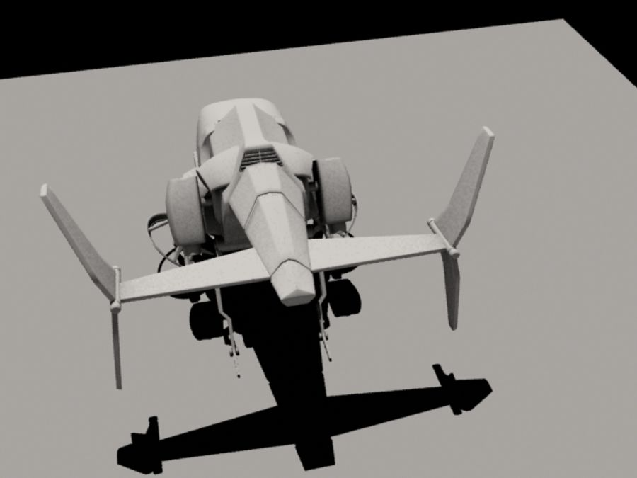 Avion royalty-free 3d model - Preview no. 7