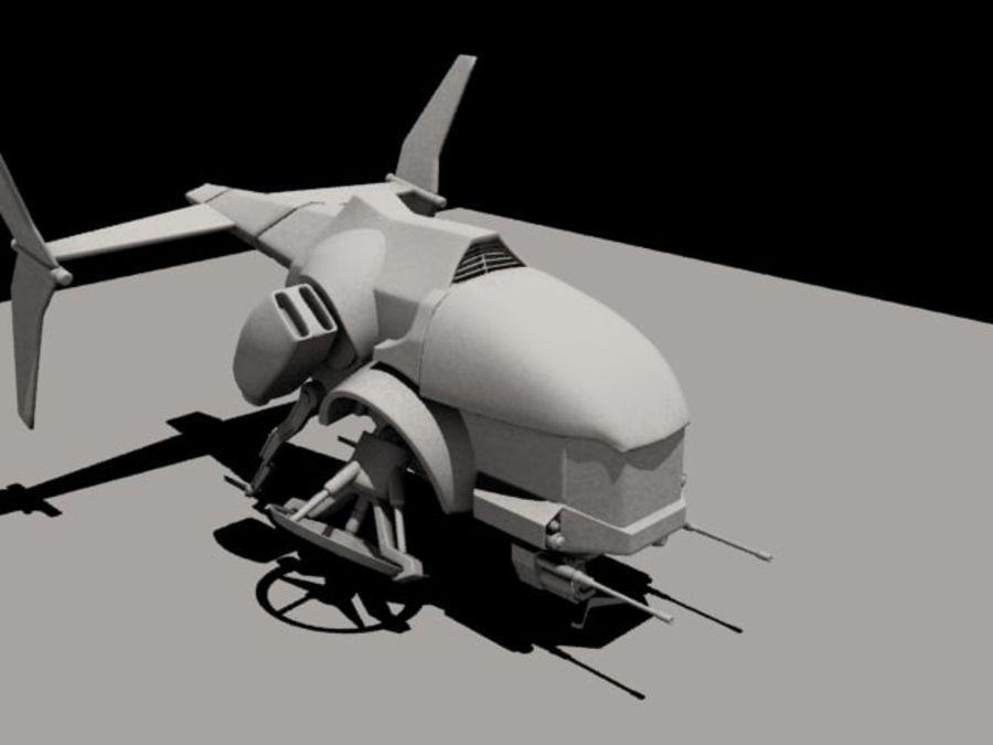 AirCraft royalty-free 3d model - Preview no. 3
