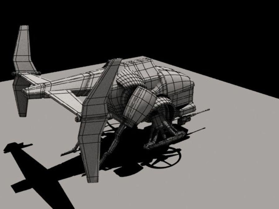 AirCraft royalty-free 3d model - Preview no. 6
