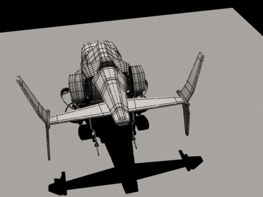 Avion royalty-free 3d model - Preview no. 8