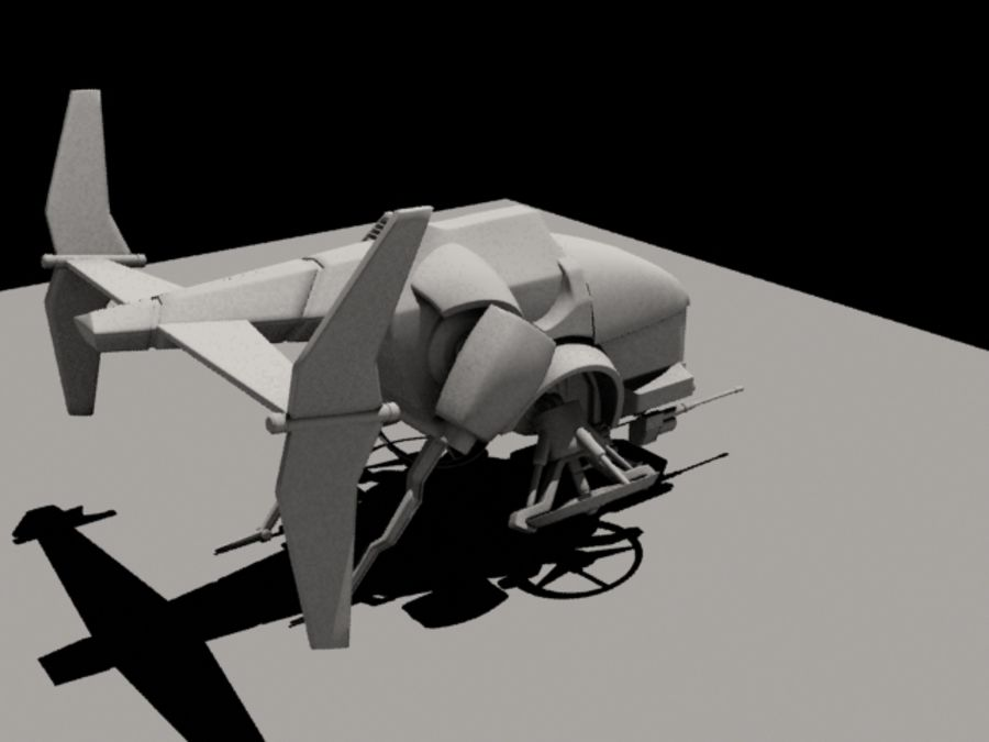 Avion royalty-free 3d model - Preview no. 5