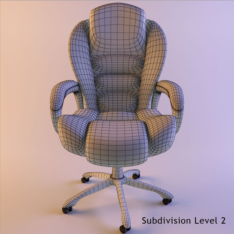 Computer Chair royalty-free 3d model - Preview no. 6