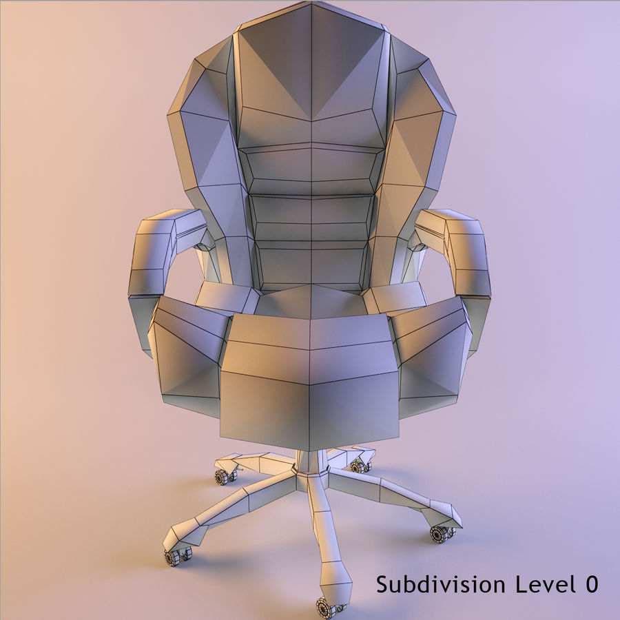 Computer Chair royalty-free 3d model - Preview no. 5