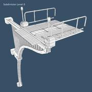 Science-Fiction-Brücke 3d model