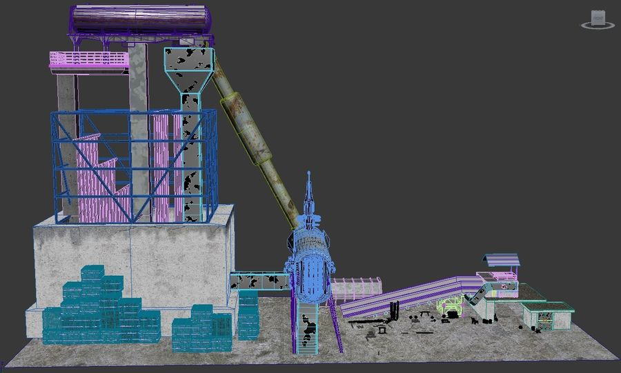 Recycling Plant Facility royalty-free 3d model - Preview no. 4