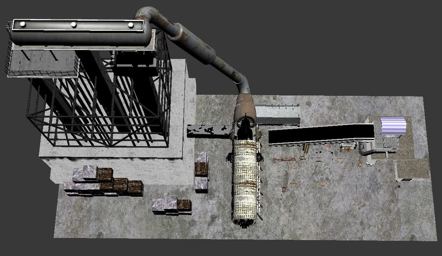 Recycling Plant Facility royalty-free 3d model - Preview no. 5
