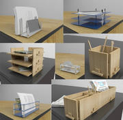 Accesorios de escritorio de oficina modelo 3d