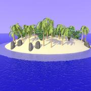 Cartoon Desert Island 3d model