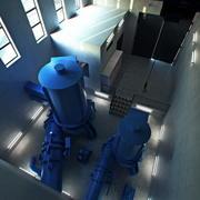 turbina hidrelétrica 3d model