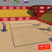 Beach Volleyball Court 3d model