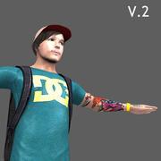 Skater męski charakter 3d model