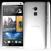 HTC One Max argent et noir 3d model