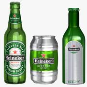 Heineken Collection 3d model