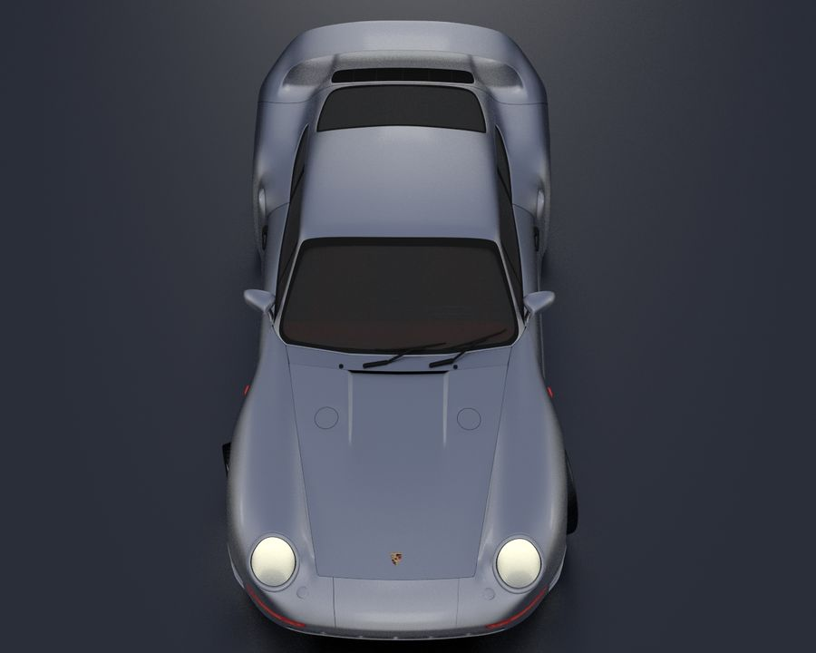 Porsche 959 royalty-free 3d model - Preview no. 7