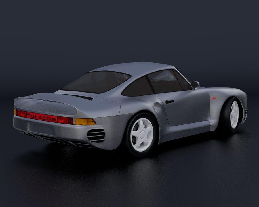 Porsche 959 royalty-free 3d model - Preview no. 19