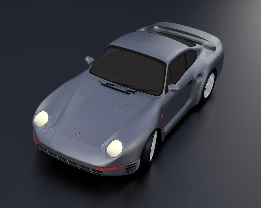 Porsche 959 royalty-free 3d model - Preview no. 2