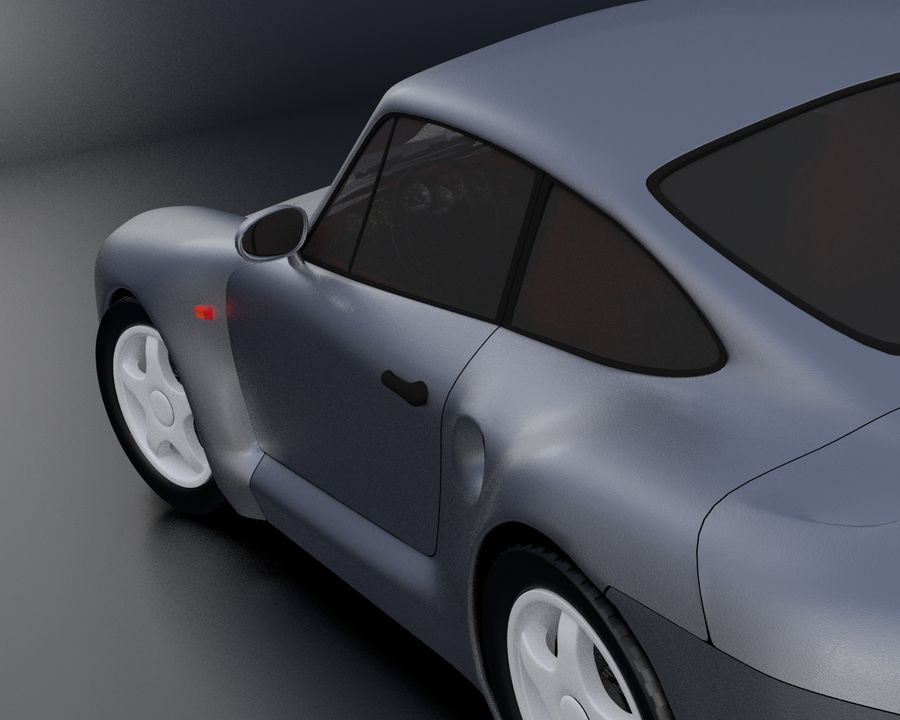 Porsche 959 royalty-free 3d model - Preview no. 16