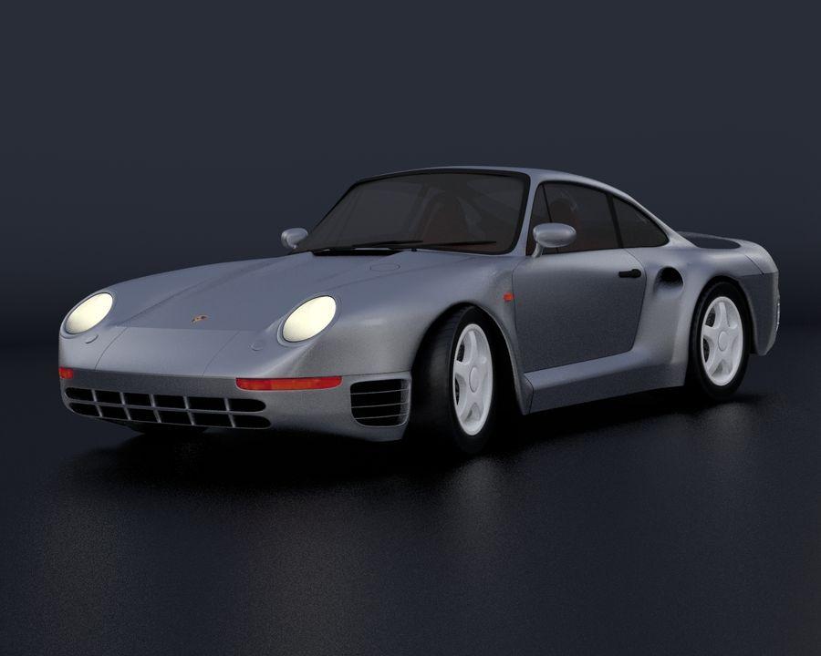 Porsche 959 royalty-free 3d model - Preview no. 11