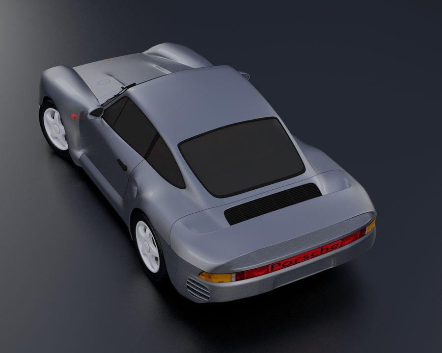 Porsche 959 royalty-free 3d model - Preview no. 3