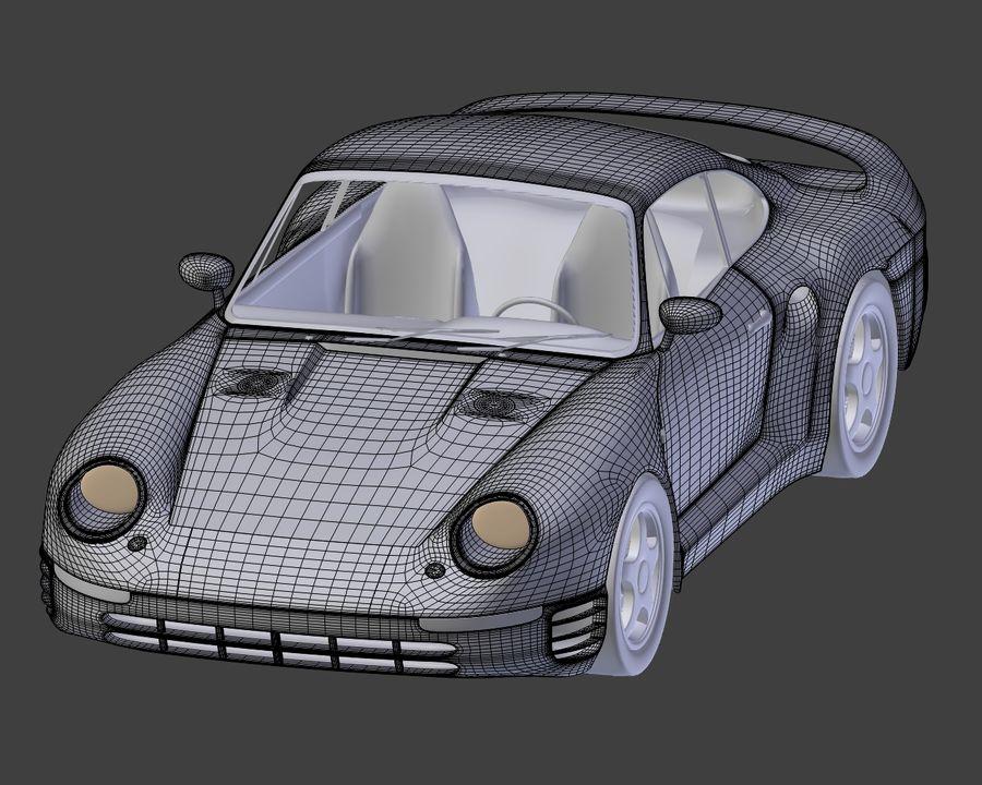Porsche 959 royalty-free 3d model - Preview no. 22