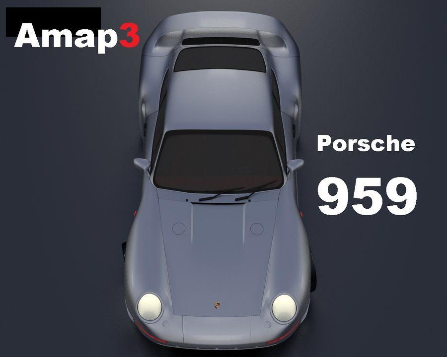 Porsche 959 royalty-free 3d model - Preview no. 1