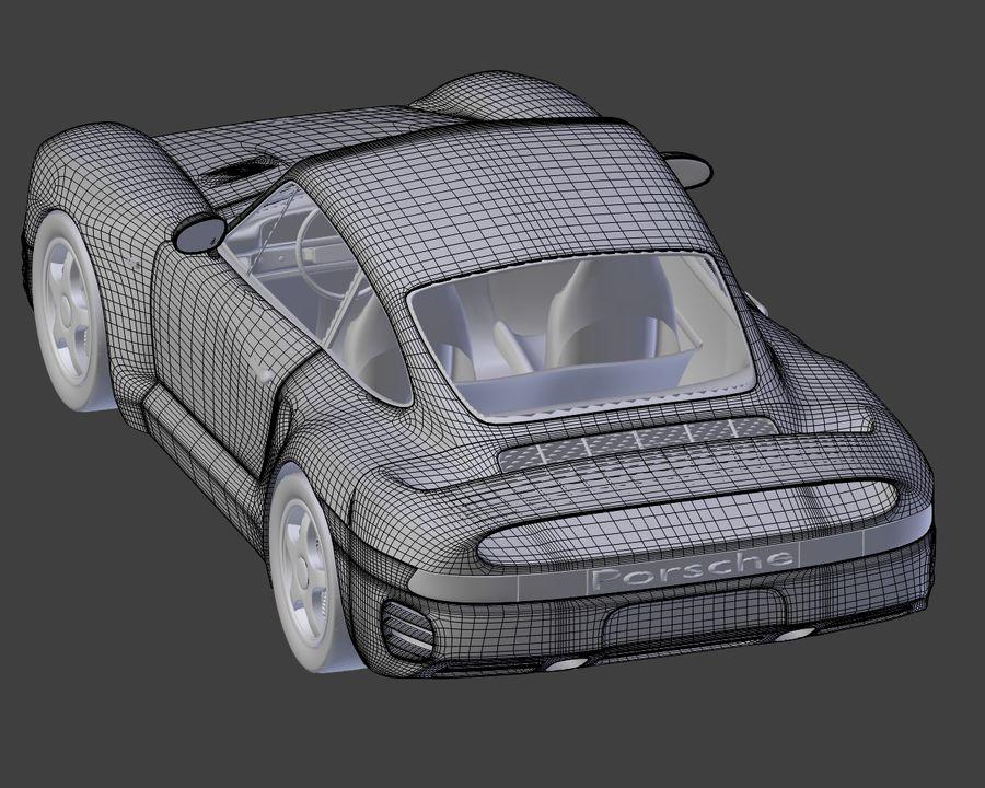 Porsche 959 royalty-free 3d model - Preview no. 23