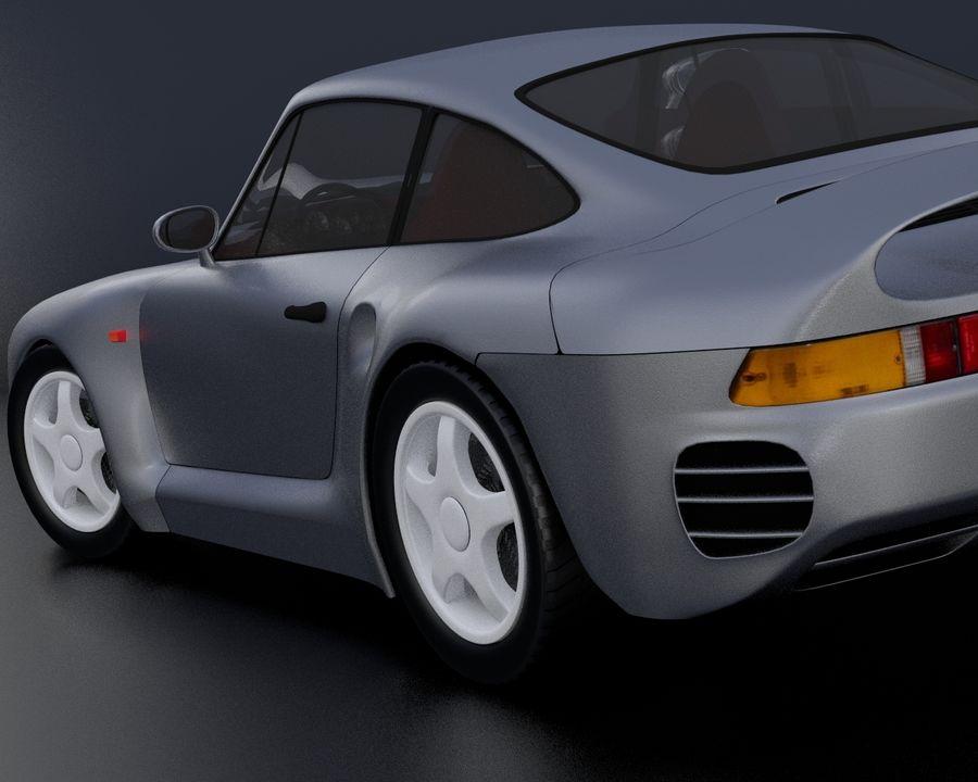 Porsche 959 royalty-free 3d model - Preview no. 15