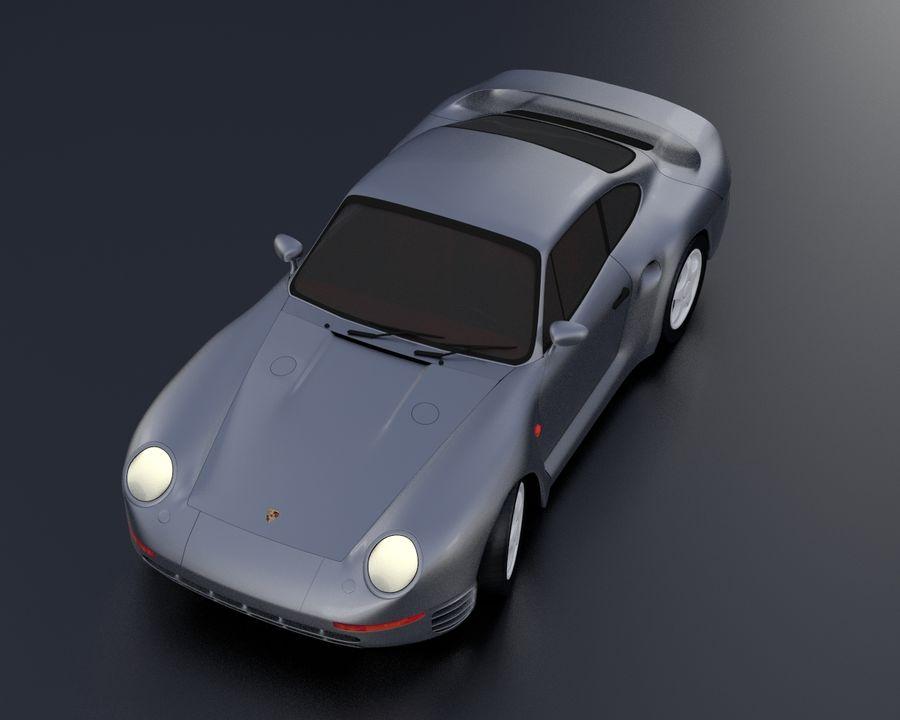 Porsche 959 royalty-free 3d model - Preview no. 20