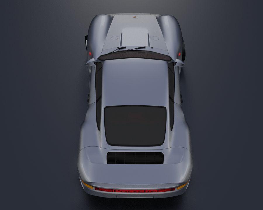 Porsche 959 royalty-free 3d model - Preview no. 8