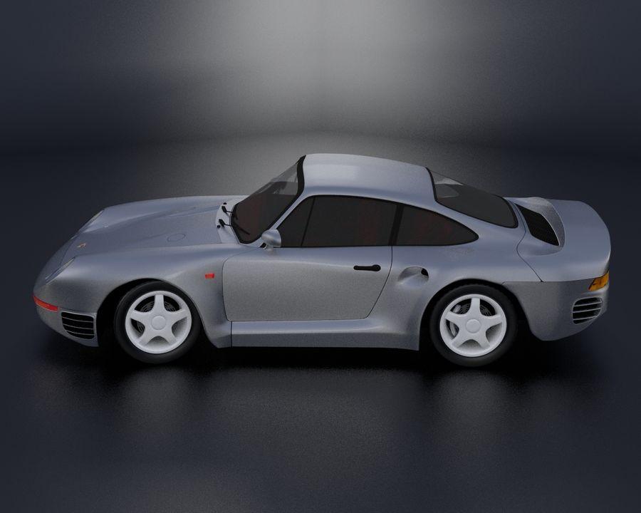 Porsche 959 royalty-free 3d model - Preview no. 4