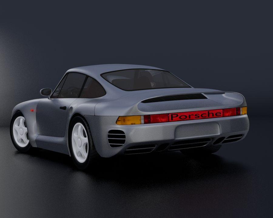 Porsche 959 royalty-free 3d model - Preview no. 12
