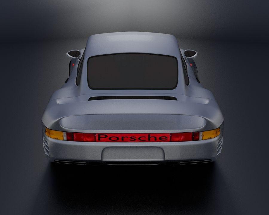 Porsche 959 royalty-free 3d model - Preview no. 6
